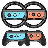 HEYSTOP Volantes y Grip Compatible con Nintendo Switch, Switch Grip Racing Wheel...